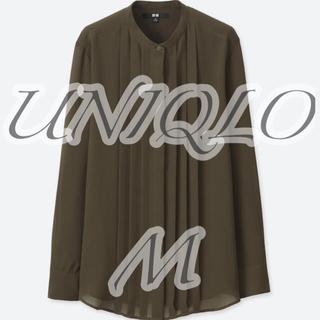 UNIQLO - UNIQLO ユニクロ ジョーゼットピンタックブラウス ブラック