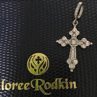 ローリーロドキン(Loree Rodkin)の美品!《Loree Rodkin》18WG ミディアムゴシッククロス トップ(チャーム)