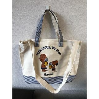 ピーナッツ(PEANUTS)の日焼けスヌーピー 2way ショルダーバッグ エコバッグ  トートバッグ (ショルダーバッグ)