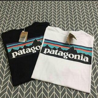 patagonia - 新品  2枚Patagonia  Tシャツ ブラック+ホワイト   Mサイズ