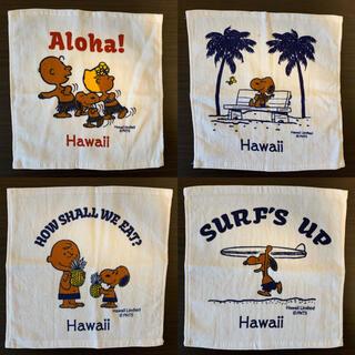 ピーナッツ(PEANUTS)の新品 4点 ハワイ限定  日焼けスヌーピー ミニタオル ハンカチ(ハンカチ)