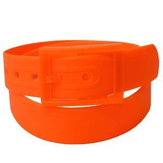 【オレンジ】色々なコーデで活躍 シリコンラバー ベルト