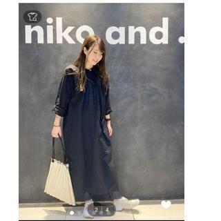 niko and... - 美品 ニコアンド 完売ブラック ピンタックレース シャツワンピース