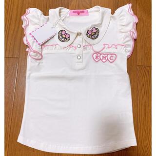 EARTHMAGIC - 45. 新品 襟付き Tシャツ 130 シロ