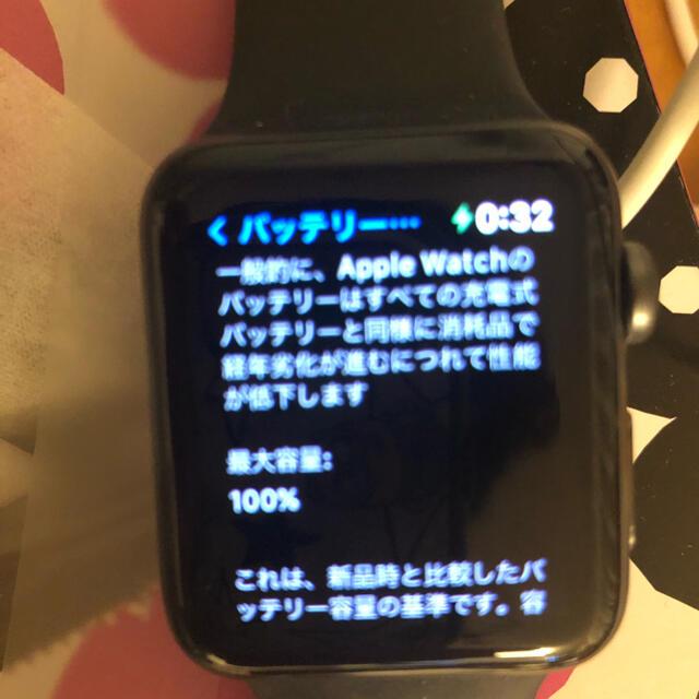 Apple Watch(アップルウォッチ)のAppleWatch series3 GPSモデル42mm スマホ/家電/カメラのスマートフォン/携帯電話(その他)の商品写真