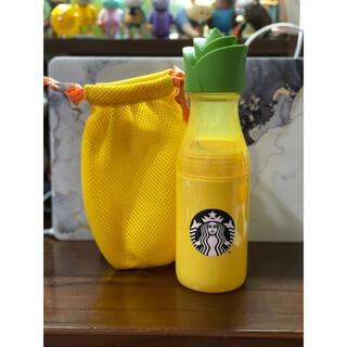 スターバックスコーヒー(Starbucks Coffee)のスターバックス スタバ 台湾パイナップルの巾着付きサニーボトル(タンブラー)