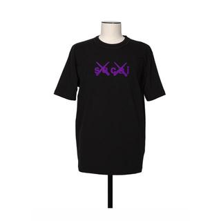 サカイ(sacai)のSacai KAWS Flock Print T-Shirt Black カウズ(Tシャツ/カットソー(半袖/袖なし))