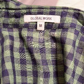 GLOBAL WORK - GLOBAL WORK!シャツワンピ!600円→500円