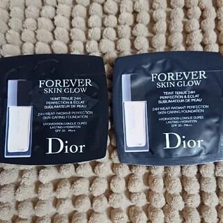 ディオール(Dior)の【サンプル】ディオールスキン フォーエヴァー フルイド グロウ 1N×2包(ファンデーション)