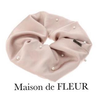 Maison de FLEUR - Maison de FLEUR♡パールサテンソフトビックシュシュ