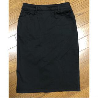 スピックアンドスパン(Spick and Span)のSpick and Span 黒スカート(ひざ丈スカート)
