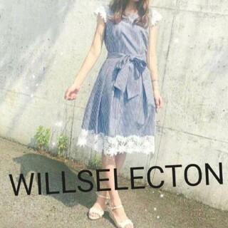 WILLSELECTION - ウィルセレクション レース付リボンワンピース