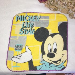 ディズニー(Disney)の【未使用】ミッキーのハンカチ(日用品/生活雑貨)