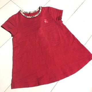 バーバリー(BURBERRY)のBURBERRY 半袖カットソー 80 クマちゃん刺繍ロゴ ベビー服 子供服(Tシャツ)