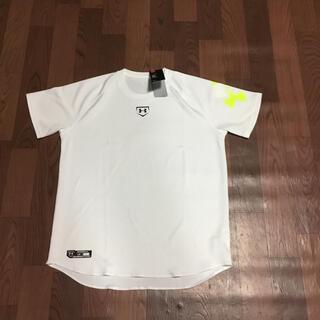 アンダーアーマー(UNDER ARMOUR)のラスト1 アンダーアーマー LG ホワイト Tシャツ ベースボールシャツ 野球(ウェア)