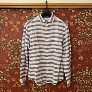 GU - 【GU】リネン混ボーダーシャツ Sサイズ