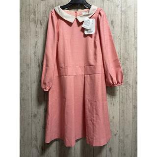 クチュールブローチ(Couture Brooch)の新品 定価8500円 襟付き ワンピース ピンク クチュールブローチ(ひざ丈ワンピース)