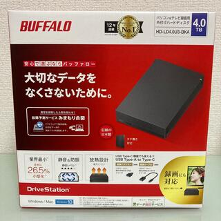 Buffalo - BUFFALO 外付けHDD 4TB ブラック HD-LD4.0U3-BKA