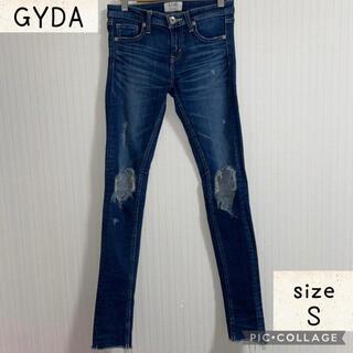 ジェイダ(GYDA)のGYDAダメージスキニーデニム Sサイズ(デニム/ジーンズ)