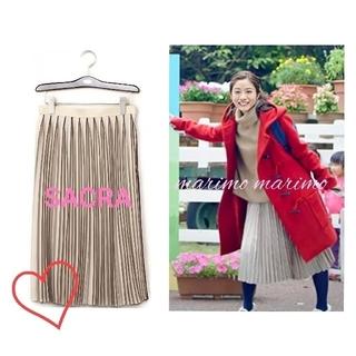 UNITED ARROWS - 【美品】♥石原さとみさん♥〈SACRA〉バイカラープリーツスカート