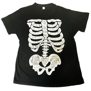 KAPITAL - 80s スカル だまし絵 骨 ボーン プリント USA製 ビンテージ Tシャツ