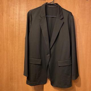 ユニクロ(UNIQLO)の3XL  UVカットジャージージャケット 柔らかな素材。(テーラードジャケット)