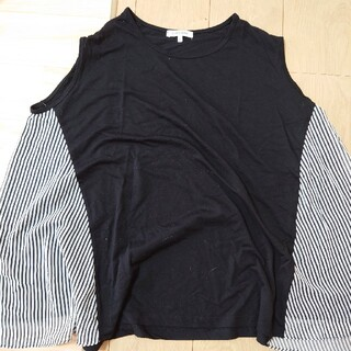 グローバルワーク(GLOBAL WORK)のGLOBALWORK☆ノースリーブLサイズ  黒(Tシャツ(半袖/袖なし))