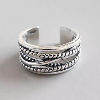 トゥデイフル(TODAYFUL)のヴィンテージクロスデザインリング シルバーリング 新品(リング(指輪))