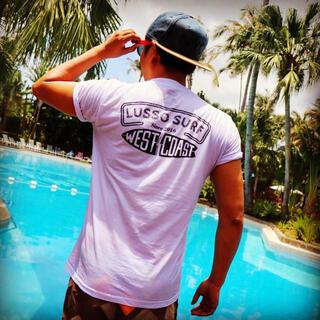 スタンダードカリフォルニア(STANDARD CALIFORNIA)の西海岸スタイル☆LUSSO SURF ウェストコーストTシャツ Lサイズ☆(Tシャツ/カットソー(半袖/袖なし))
