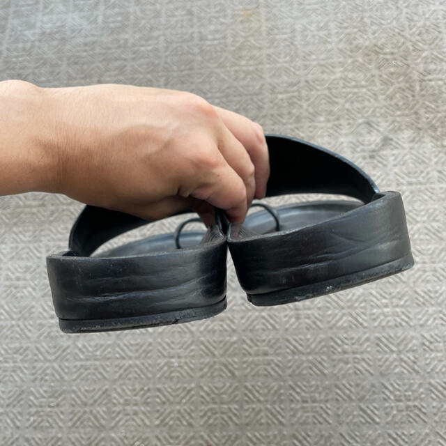Jil Sander(ジルサンダー)の即日発送可能 美品 JIL SANDER ジルサンダー レザーサンダル 41 メンズの靴/シューズ(サンダル)の商品写真