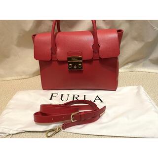 Furla - フルラ メトロポリスM ハンドバッグ ショルダー 2way 赤 レッド 美品