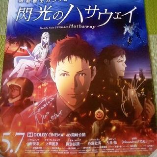 BANDAI NAMCO Entertainment - 新品 機動戦士ガンダム閃光のハサウェイの直筆サイン入りポスターとペアチケット