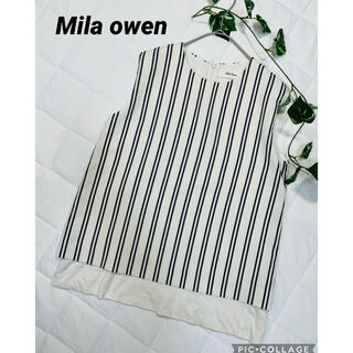 Mila Owen - ミラオーウェン  ノースリーブプルオーバーシャツ ストライプ