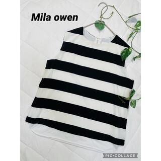 ミラオーウェン(Mila Owen)のミラオーウェン  ノースリーブプルオーバーシャツ ボーダー(シャツ/ブラウス(半袖/袖なし))