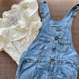 スナイデル(snidel)のsnidel girl × zara girls 110 デニム セットアップ(Tシャツ/カットソー)
