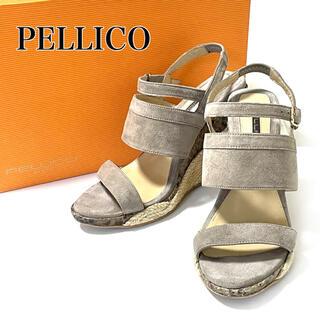 PELLICO - 【超美品❗️】ペリーコサニー スエード パイソン ウェッジソールサンダル 36