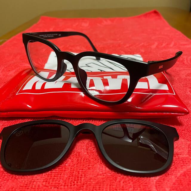 Zoff(ゾフ)の偏光サングラス付きメガネフレーム MARVEL メンズのファッション小物(サングラス/メガネ)の商品写真