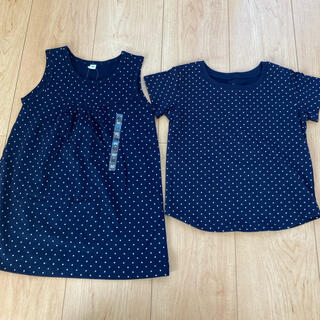 ムジルシリョウヒン(MUJI (無印良品))のワンピース シャツ セット 90(Tシャツ/カットソー)