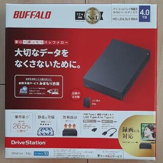 バッファロー(Buffalo)のバッファロー 4TB 外付けハードディスク(PC周辺機器)