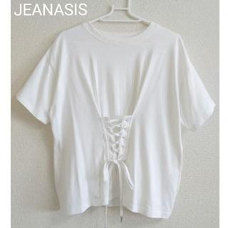 JEANASIS - 【美品】JEANASIS レースアップTシャツ カットソー