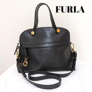 Furla - 【美品】フルラ パイパーM ショルダーバッグ ハンドバッグ ブラック オニキス