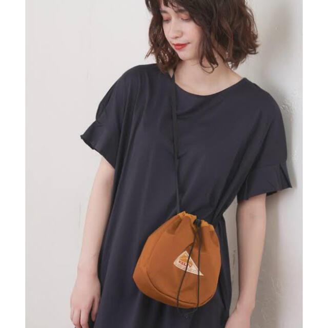 KELTY(ケルティ)の*ケルティ 巾着バック キャメル 美品* レディースのバッグ(ショルダーバッグ)の商品写真