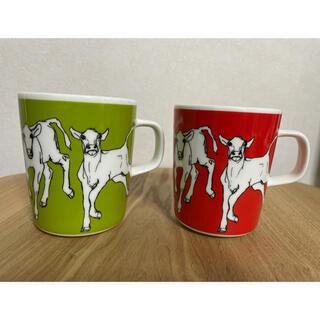 マリメッコ(marimekko)のマリメッコ  イルタヴィッリ 牛柄 マグカップコレクション marimekko(グラス/カップ)