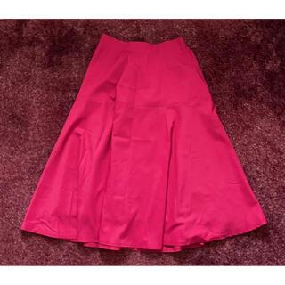 グレイル(GRL)の美品【GRL】ワイドフレアスカート(ひざ丈スカート)