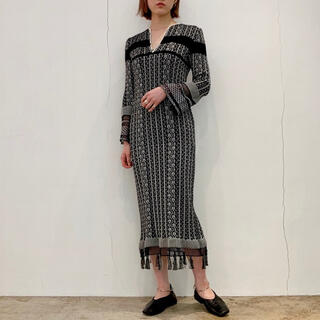 mame - mame ☆ rib jacquard knit dress