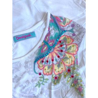 デシグアル(DESIGUAL)の《値下げ》未使用◆エスニックプリント トップス テシグアル(Tシャツ(半袖/袖なし))