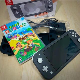 ニンテンドースイッチ(Nintendo Switch)のニンテンドースイッチ ライト本体+あつ森ソフト(携帯用ゲーム機本体)