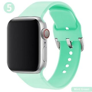 Apple Watch ソフト バンド 38/40mm ミントグリーン(腕時計)