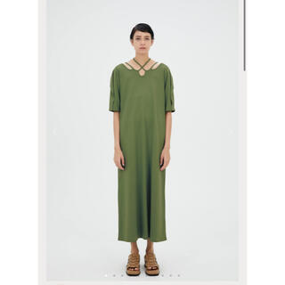 STUDIOUS - murral Ivy halfsleeve dress (Pistachio)