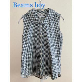 ビームスボーイ(BEAMS BOY)の◎美品◎ 日本製 Beams boy ノースリーブブラウス(シャツ/ブラウス(半袖/袖なし))